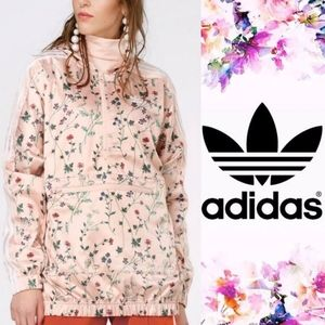 Adidas Hooded Floral Pink Jacket